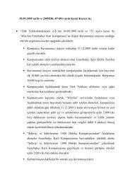 """30.09.2009 tarih ve 2009/DK–07/491 sayılı Kurul Kararı ile; """"Türk ..."""