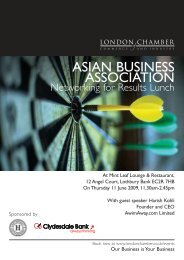 asian business association - London Chamber of Commerce and ...