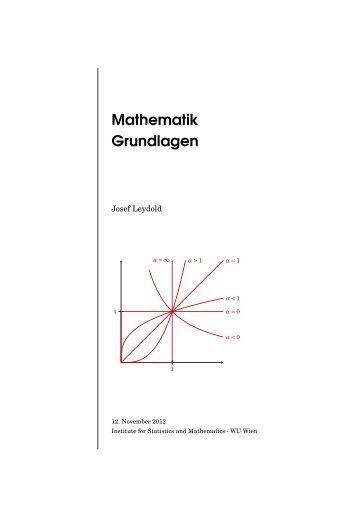 Mathematik Grundlagen - Institute for Statistics and Mathematics