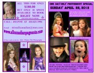 180.00 Sunday April 22, 2012 - Miss All Canadian Pageants