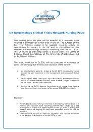 UK Dermatology Clinical Trials Network Nursing Prize - BDNG