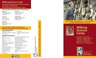 View Brochure - Professional Dairy Producers of Wisconsin