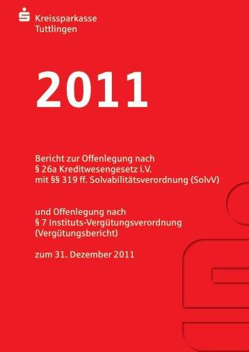 Offenlegungsbericht 2011 - Kreissparkasse Tuttlingen