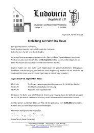 Einladung zur Fahrt ins Blaue - Ludovicia Ingolstadt