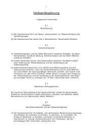 Verbandssatzung - Zweckverband zur Wasserversorgung der ...