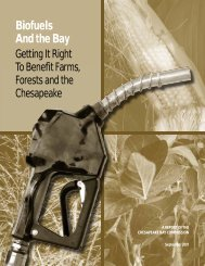 Biofuels And the Bay - Chesapeake Bay Commission