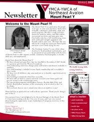 Newsletter - the YMCA of Northeast Avalon