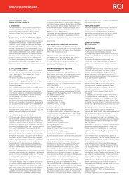 Disclosure Guide - RCI.com