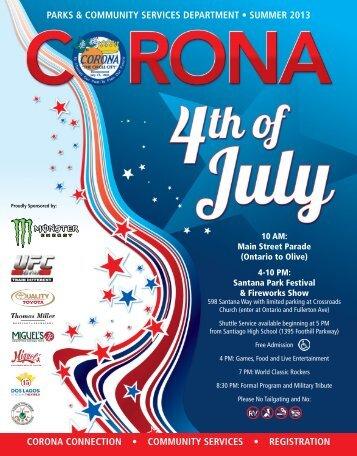 corona connection > community services ... - City Of Corona