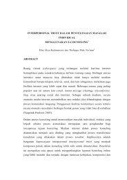 INTERPERSONAL TRUST DALAM PENYELESAIAN MASALAH ...
