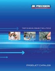B&K Precision Corp. Catalog - PC-103 - Electro Sonic