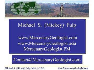 September 18-19, 2012 - Mercenary Geologist