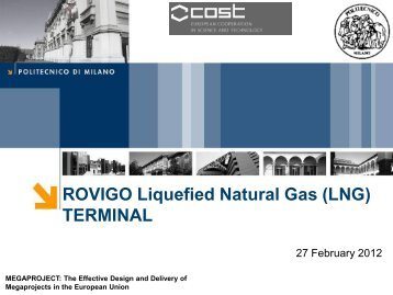 ROVIGO Liquefied Natural Gas (LNG) TERMINAL - Megaproject