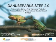 Introduction to the DANUBEPARKS STEP 2.0 project (G.Frank)