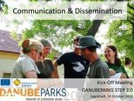 Communication & Dissemination - DANUBEPARKS