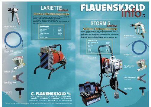 Airless Stempelpumpe - C. Flauenskjold A/S