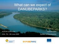 projects - DANUBEPARKS