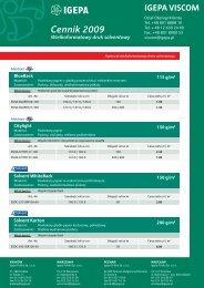 Cennik materiałów do druku solwentowego - Igepa