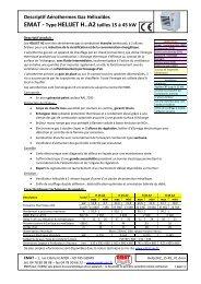 Descriptif Aérothermes Gaz Hélicoïdes EMAT - Type HELIJET H..A2 ...