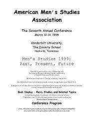 AMSA VII. Vanderbilt University, Nashville, TN, March 12-14, 1999