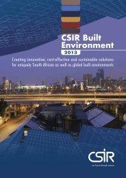 CSIR Built Environment