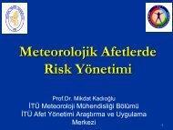 3.3. meteorolojık afetler rısk yonetımı - Devlet Su İşleri Genel ...