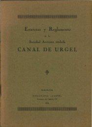 CANAL DE URGEL - Sol-Torres