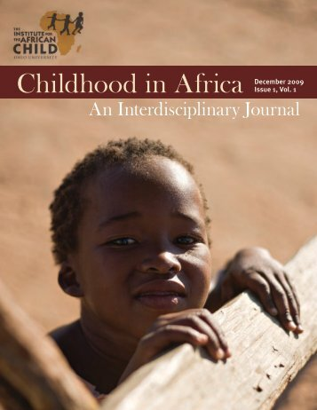 Childhood In Africa - Institute for the African Child - Ohio University