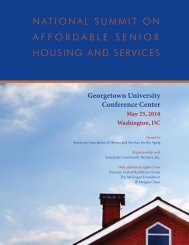 National Summit on Affordable Senior Housing and Services, May ...