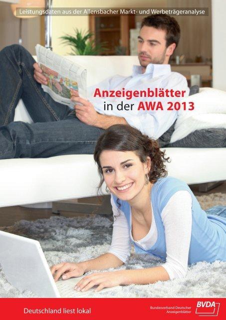 Anzeigenblätter in der AWA 2013