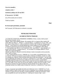 Civ. 1 re , 29 mai 2013 - DALLOZ Etudiant