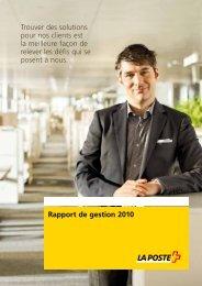 Rapport de gestion 2010 - La Poste Suisse