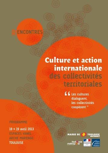 Programme - Cités Unies France