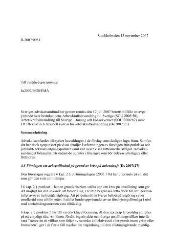 Arbetskraftsinvandring till Sverige - förslag och konsekvenser