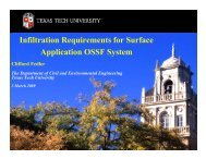 Infiltration Requirements for Surface Application OSSF System