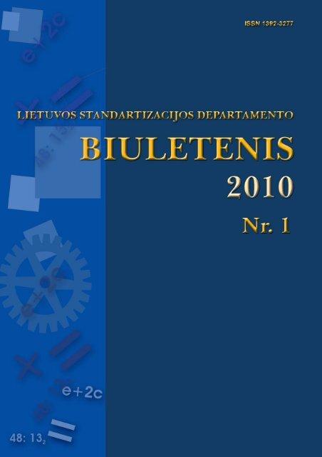 2010 Nr. 1 - Standartizacijos departamentas prie AM