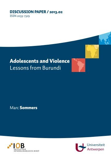 Adolescents and Violence: Lessons from Burundi - INEE