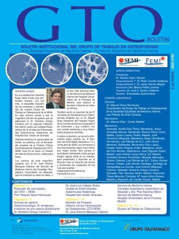 Historia Clínica Informatizada de Osteoporosis. GTO-SEMI