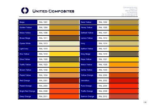 Ral Colour Chart Pdf File United Composites