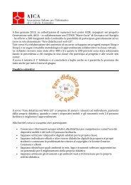 Presentazione Corso Fare Didattica nel Web 2.0 - Aica