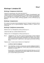 Ændringer i Lokalplan 933 - Velkommen til Århus Kommune