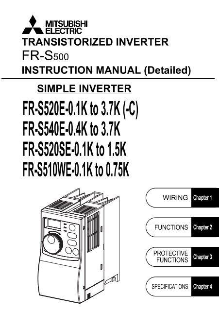 Download the Mitsubishi S500 VFD Instruction Manual - MRO Stop
