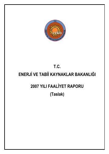 Taslak - Enerji ve Tabii Kaynaklar Bakanlığı