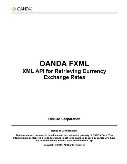 Oanda Fxml