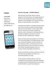 Icopal für unterwegs - die Mobile Website - Icopal GmbH