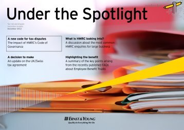 Under the Spotlight - Ernst & Young