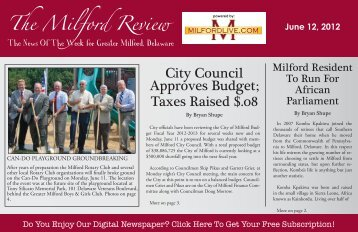 City Council Approves Budget; Taxes Raised $.08 - Milford LIVE!