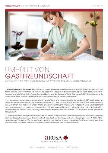 UMHÜLLT VON GASTFREUNDSCHAFT - Resort A-Rosa