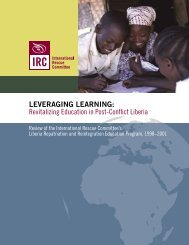 Leveraging Learning: Revitalizing Education in Post-Conflict ... - INEE