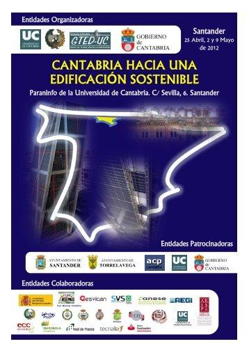 cantabria hacia una edificación sostenible - Universidad de Cantabria